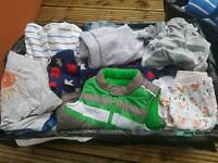 Crate Of Baby Boy Clothes 3-6months