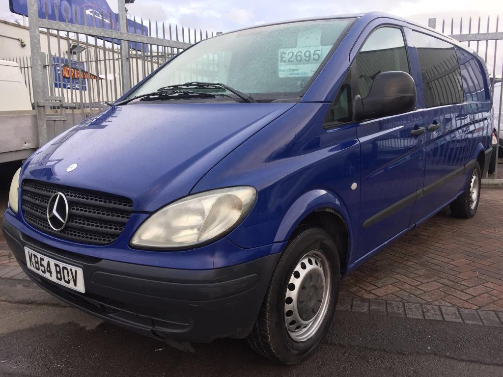 2005 MERCEDES VITO XL LONG WHEELBASE IDEAL DAY VAN CAMPER CONVERSION REAR SEATS AVAILABLE SUPERB VAN