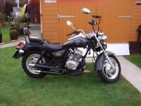 2007 125cc CBT LEARNER LEGAL CHOPPER BOBBER HARLEY STYLE MOTORCYCLE - LONG MOT - RUNS WELL - £690