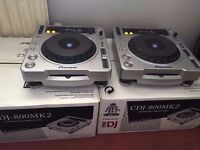 Pioneer cdj 800 MK2 decks with deck saver covers