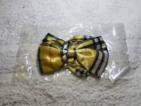 Boy's gold checkered bow tie