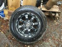 "17"" Black Iron Vigilante Rims with Bfgoodrich rugged trail tires"