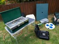 Camping gear tent stove table etc