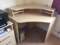 Wood effect desk