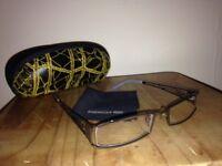 Reading Glasses 0.5 Silver Decorative Frame + Case + Microfiber tissue