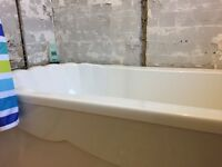 White bathroom suite with taps and fittings. Immaculate condition. Buyer collects