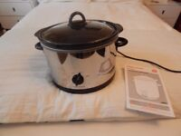 MORPHY RICHARDS VERY LARGE SLOW COOKER LIKE NEW 3.5 litres