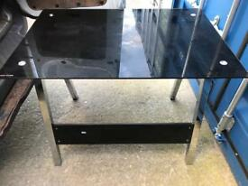 Black glass desk with FREE DELIVERY PLYMOUTH AREA