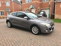2009 RENAULT MEGANE 1.5 DCI DIESEL COUPE, £30 TAX FOR YEAR, FULL SERVICE HISTORY, HPI CLEAR