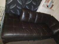 Corner couch black