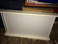 White cot top changer with drawer