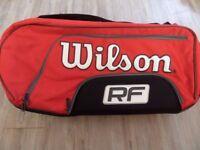 Brand new - FEDERER ELITE RED 12 PACK TENNIS BAG (Slight defect)