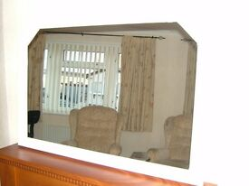 Arched shape mirror, wooden frame