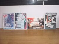 FOUR WW2 REPLICA POSTCARDS OF FRENCH POSTERS x 2 + GERMAN POSTERS x 2 ALL IN VGC