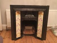 Cast iron fire inset - original SOLD