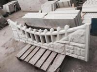 Rockface fancy concrete topper / Concrete fencing