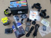 GoPro type camera with remote watch and accessories