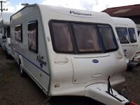 2004 Bailey Pageant Moselle 4 Berth Side Dinette End Washroom Caravan with L Shaped Lounge