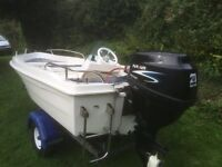 Great little fishing boat and trailer for sale