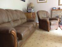 Bardi italian 4 piece leather suite