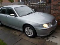 ROVER 75 2LTR,DEISEL, BMW ENGINE AUTO G/BOX FSH ONLY 79000 MILES!!! £ 875. IN SILVER ONLY 2 OWNERS.