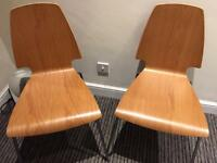 IKEA Vilmar Oak Veneer Chairs - Only 1 Year Old