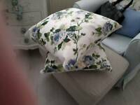 Floral cushion new blue roses