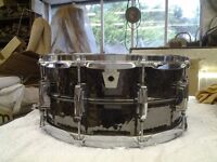 Ludwig hand hammered Black Beauty snare drum
