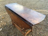 Solid oak drop leaf table ....FREE LOCAL DELIVERY