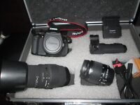 canon 600d digital slr camera 18mp with 18-55 and 70-300mm lenes