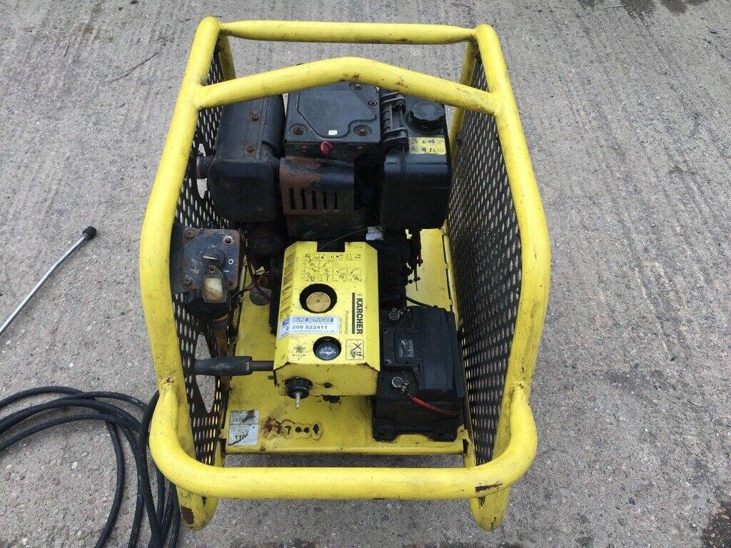 Karcher HD 1050 DE Yanmar diesel mobile pressure washer / jet wash -  electric start   in Exeter, Devon   Gumtree