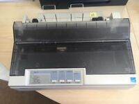 Reduced price - Epson LX - 300 +II Dot matrix printer & 4 1/2 boxes of Sage Original green payslips