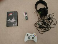 Turtle Beach Ear Force X12 Gaming Headset, Xbox 360 wireless controller and Forza Motorsport 3