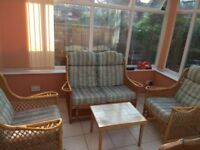 Cane furniture set for Conservatory - Good condition
