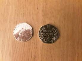 Beatrix Potter 50 pence coins to swap