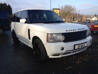 2003 Range Rover Vogue in stunning white, 3.0 diesel, long m.o.t.