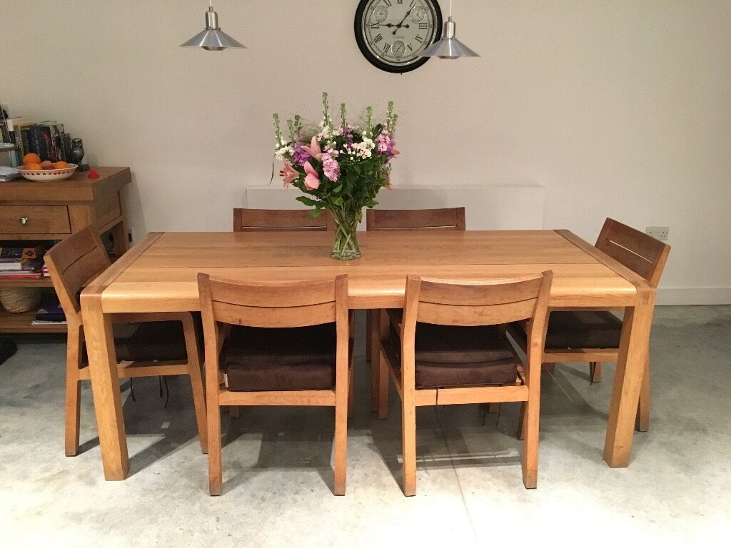 habitat radius dining table and 6 chairs | in clapham, london