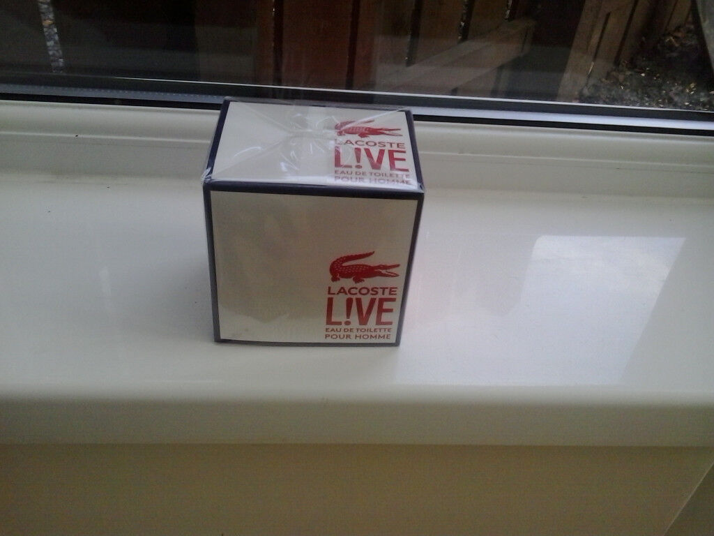 genuine mens lacoste live 100ml (boxed and wrapped)