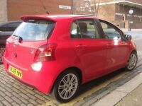 TOYOTA YARIS NEW SHAPE 2008 SAT NAV +++ CHEAP TO TAX RUN AND INSURE +++ 5 DOOR HATCHBACK