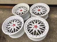 "19"" 5x100 Italian mercati alloy wheels staggered deep dish"