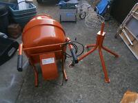 electric concrete mixer.