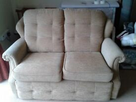 G-Plan Upright settee and two armchairs