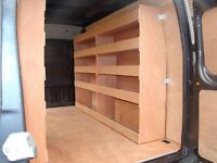 Wooden shelf for VAN