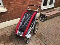 Thule chariot cougar 1 bike trailer with accessories