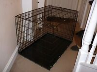Large Heavy Duty Wire Dog Cage.