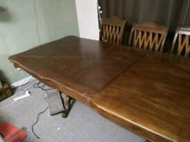 Large dining table oak