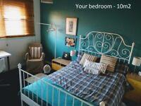 Double Room; spacious houseshare; Min 3mo contract; near Dennistoun; 8mins from Glasgow centre
