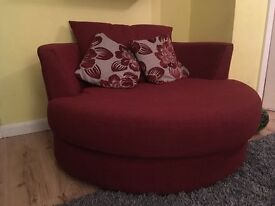 DFS large swivel chair (red)