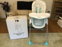 Highchair. Mothercare. I love Sunshine arc highchair. With original box.