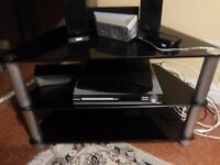 BRAND NEW TV STAND BLACK GLASS PHILIPS SONY AND